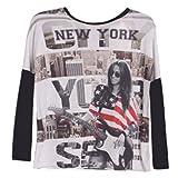 New York-Camiseta de manga larga, diseño de Nueva York 4, 6, 8, 10, 12 y 14 años blanco 4 años