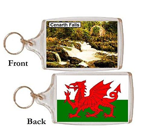 Schlüsselring Cenarth Wasserfall Wales Geschenk Tourist Souvenir