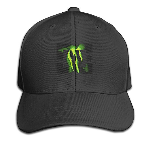 SHKUK Green Drink Logo Unisex Pure 100% Cotton Adjustable Peaked Cap Fashion Sports Washed Baseball Hunting Cap Casquette Black (Monster Hats Energy compare prices)