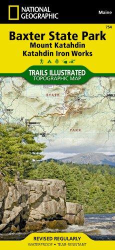 Baxter State Park [Mount Katahdin, Katahdin Iron Works] (National Geographic Trails Illustrated Map) front-616280