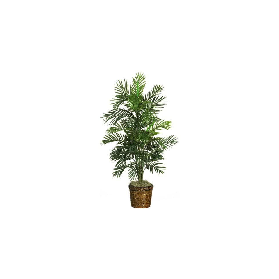 54 Silk Areca Palm Tree with Basket in Green