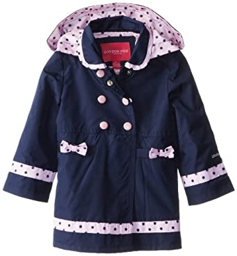 Amazon.com: London Fog Little Girls' Solid Trench Coat