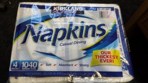 Casual Dining Napkins 4 pack 1040 1-Ply Napkins by Kirkland