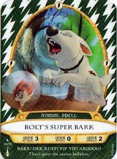 Sorcerers Mask of the Magic Kingdom Game, Walt Disney World - Card #24 Bolt's Super Bark - 1