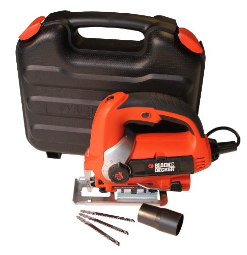 Black  &  Decker KS900EK 600 W Jigsaw with Sightline Variable Speed and Kit Box