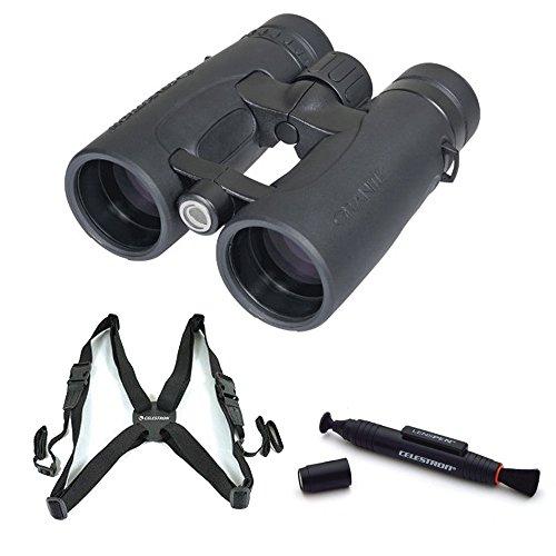 Celestron 8X42 Granite Binocular (Black) With Binocular Harness And Lenspen Tool