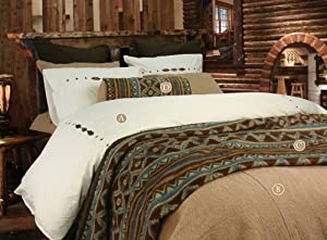 Hiend accents canyon crest coverlet queen for Crest home designs bedding