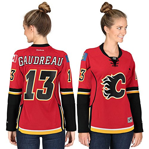 13 Johnny Gaudreau Calgary Flames Home Women's Premier Jersey Red color Size S