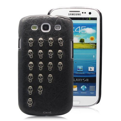 Best  Cocoz® New Releases Samsung Galaxy I9300 Case Metal Rivets Punk Style Skull Fashion Design Pu+velvet Hard --P007