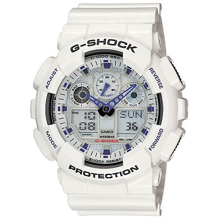 G-Shock GA100A-7A Classic Series Designer Watches - White