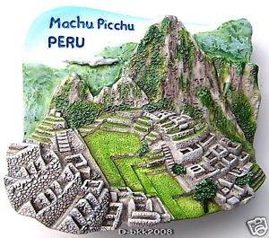 Machu Picchu Peru, High Quality Resin 3D Fridge Magnet, 7 Wonders Of The World front-39608