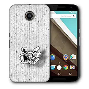 Snoogg Mr.Four Fingers Printed Protective Phone Back Case Cover For LG Google Nexus 6