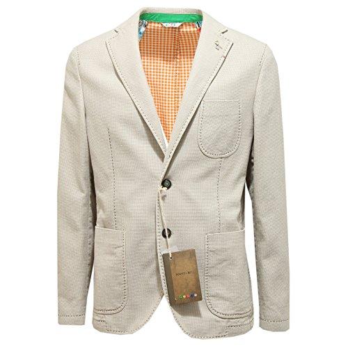 9813N giacca MANUEL RITZ beige giacche uomo jackets men [52]