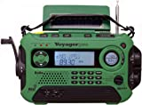 Kaito KA600 Digital Emergency Hand Crank and Solor Powered AM/FM/SW and NOAA Weather Radio with RDS and Real-time Alert (Green)