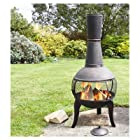 Deeco Consumer Products Tuscan Glo Cast Iron Chiminea