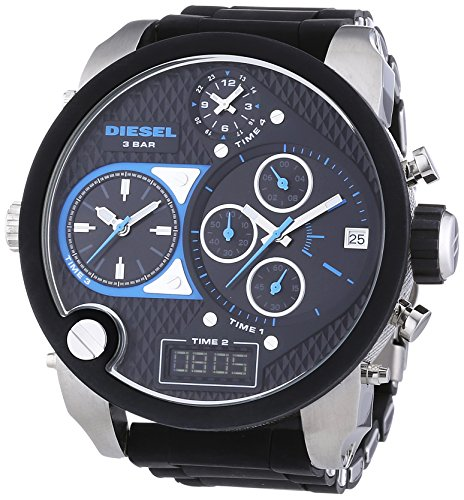 beseriet diesel dz7278 montre homme quartz chronographe bracelet silicone noir. Black Bedroom Furniture Sets. Home Design Ideas