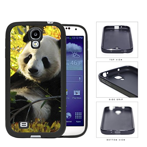 Cute Baby Panda In The Field Rubber Silicone Tpu Cell Phone Case Samsung Galaxy S4 Siv I9500