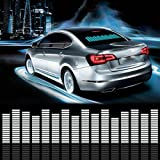 Sound Music Beat Activated Car Stickers Equalizer Glow LED Light Audio Voice Rhythm Lamp (70cm X 16cm, Blue)