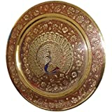 Eco Haat Premium Export Quality Brass Wall Hanging Plate With Beautiful Design