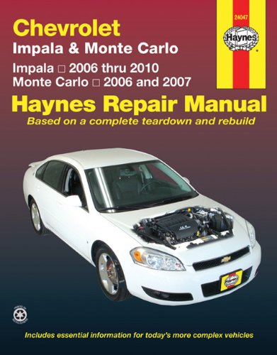 Chevrolet Impala & Monte Carlo: 2006 THRU 2010 (Haynes Repair Manual) (Chevrolet Robot compare prices)