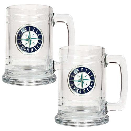 MLB Seattle Mariners Two Piece 15-Ounce Glass Tankard Set- Primary Logo at Amazon.com
