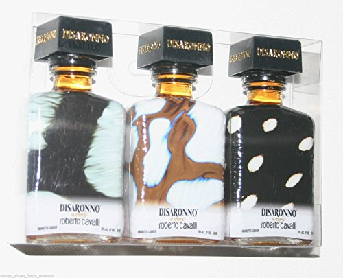 3-miniature-disaronno-bottles-empty-designed-by-roberto-cavalli
