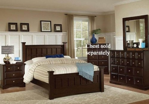 4Pc King Size Bedroom Set In Cappuccino Finish back-906895