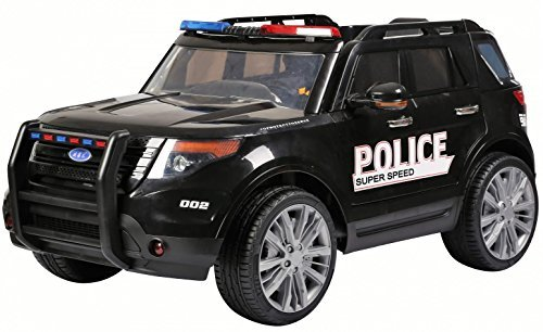kids police car range rover style 44 12v electric battery ride on car jeep black by epic