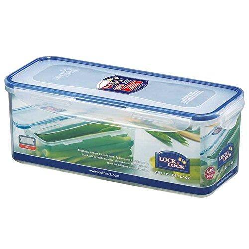 Lock & Lock HPL 844 Boîte spécifique longue 2 L avec plateau fraîcheur Etanche à 100% air et liquide