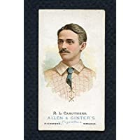 1887 N28 Allen & Ginter Bob Caruthers Dodgers EX Scratch 283885 Kit Young Cards