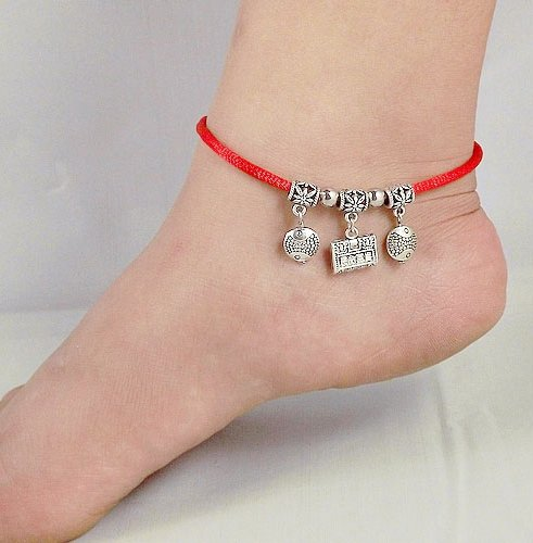 Tibetan Silver Sterling Silver Bangle Anklet Chain Bracelet Jewellery Quality Style NO.3010