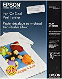 Epson Iron-on Cool Peel Transfer (8.5x11 Inches, 10 Sheets)...