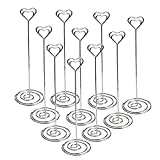 Jofefe Place Card Holders Heart Shape Table Number Holder Stands Picture Photo Note Memo Clip for Wedding