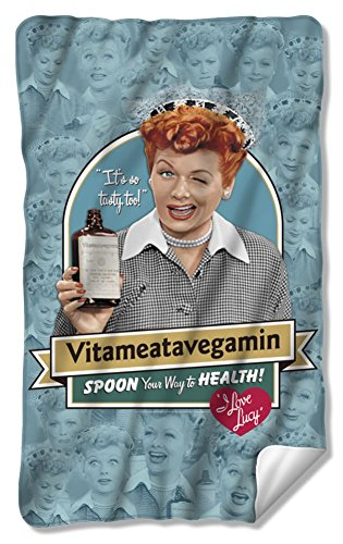 I Love Lucy Vitameatavegamin Fleece Blanket LB256BKT