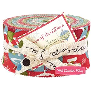 12 Days of Christmas Jelly Roll Kate Spain for Moda Fabrics
