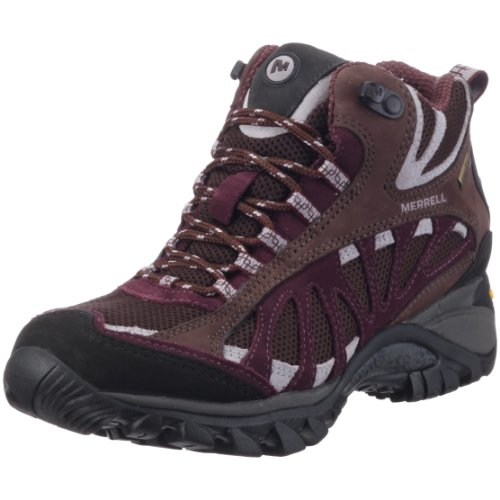 Merrell Women's Siren Ventilator Mid Gore-Tex Coffee Bean/Huckleberry Trainer J16330 4 UK