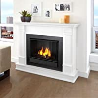 Real Flame Silverton Ventless Gel Fireplace White
