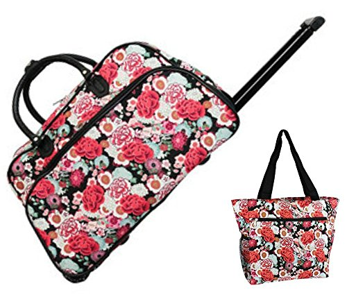 red-rose-floral-21-duffel-rolling-bag-set-rolling-bag-1-13-travel-beach-tote-bag