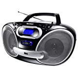 "Karcher RR5050 Tragbares Stereo Radio (CD/MP3-Player, UKW-Radio, USB 2.0, 50 Watt (PMPO)) schwarz/silbervon ""Karcher"""