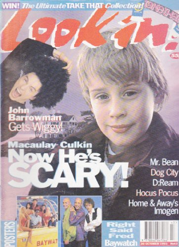LOOK IN MAGAZINE BACK ISSUE #43 MACAULAY CULKIN - JOHN BARROWMAN - MR BEAN - DOG CITY