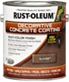 Rust-Oleum 266554 Decorative Concrete Coating Multi-Color Finish, 1-Gallon, Sunset
