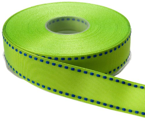 May Arts 1-Inch Wide Ribbon, Parrot Green Grosgrain