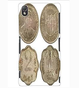 ColourCraft Antique Coins Design Back Case Cover for SONY XPERIA Z3