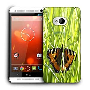 Snoogg Flying Butterfly Printed Protective Phone Back Case Cover For HTC One M7