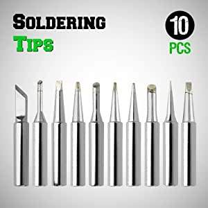 gothobby 10pc soldering iron tips 900m t series for solder rework station repair tool fine. Black Bedroom Furniture Sets. Home Design Ideas