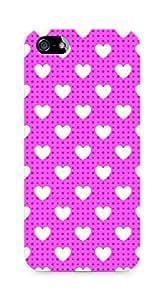 Amez designer printed 3d premium high quality back case cover for Apple iPhone SE (Romantic Pink Color Hearts7)