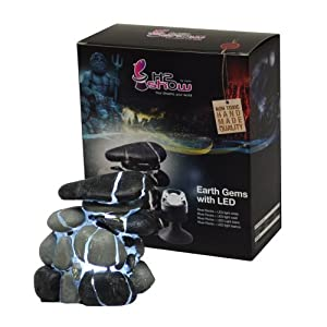 Hydor H2Show Earth Gems with LED for Aquarium, River Rock, White