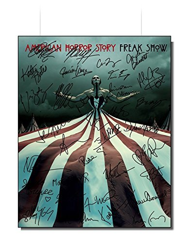 American Horror Story' Autographed Photo 8x10 Reprint RP (Evan Peters, Sarah Paulson, Jessica Lange, Kathy Bates & Others)