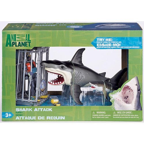 Shark Toys And Games : Shark attack figure playset by animal planet toys games