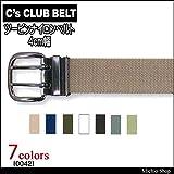 ミチオショップ C's CLUB ツーピンナイロンベルト 4cm幅 0042 CUC 中国産業 36フェ-ドグリーン